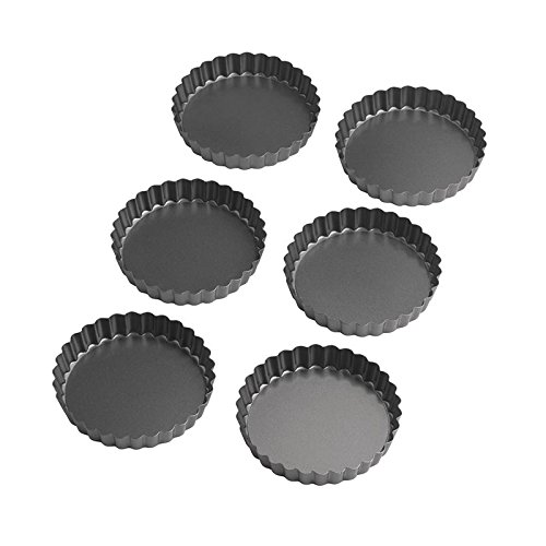 Wilton Perfect Results 4 Inch Round Tart/Quiche Pan, Set of 6