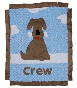 Top Seller Boogie Baby Puppy Luxury Blanket - Blue front-206221