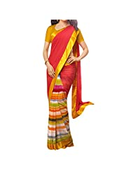 Bhavi Embellished Printed Georgette Saree - B00NBXYIMO