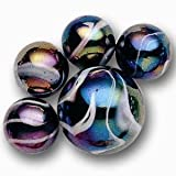Mega Marbles - MILKY WAY MARBLES NET (1 Shooter Marble, 24 Player Marbles)