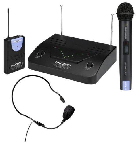 KAM KWM1932 UHF Wireless Headset Lapel Microphone Set