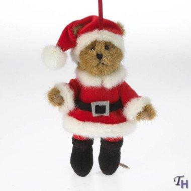 Enesco Boyd's Plush Santa Ornament, 6-Inch