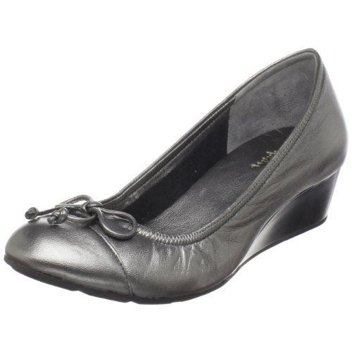 Cole Haan Women's Air Tali Lace Wedge,Dark Silver Metallic,10  B US (Cole Haan Wedge Nike Air compare prices)