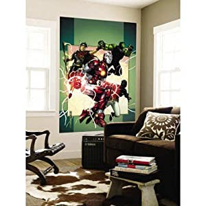 48x72 jim cheung young avengers no 3 cover for Avengers wall mural amazon