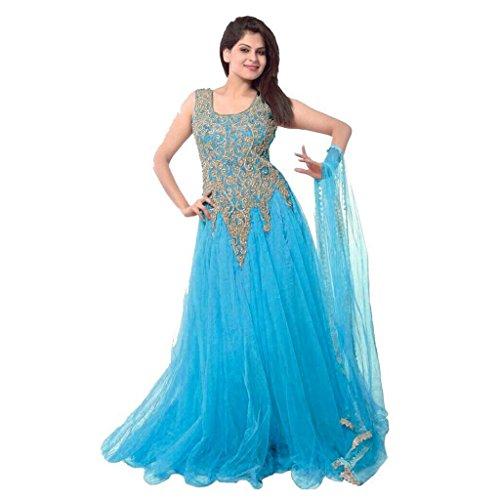 Starword-fashion-womens-soft-net-dress-materialgownGOWN007SKYFREESIZE