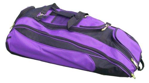 Black & Purple Cobra Softball Baseball Bat Equipment Roller Bag