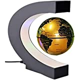 Antigravity Floating Magnetic Globe With LED Light Gift Decoration (Gold)
