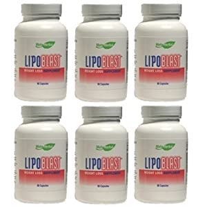 LipoBlast Extreme Diet Pills/Energy Boosters/Appetite Suppressant for Weight Loss - 6 Bottles - 540 Capsules