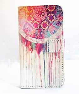 Dream Catcher Melting Abstract Aztec Tribal Pattern Slim Wallet Card Flip Stand PU Leather Pouch Case Cover For 2014 Apple iphone 6 4.7 inch New Arrival