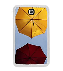 Colourful Umbrellas 2D Hard Polycarbonate Designer Back Case Cover for Samsung Galaxy Tab 3 8.0 Wi-Fi T311/T315, Samsung Galaxy Tab 3 8.0 3G, Samsung Galaxy Tab 3 8.0 LTE