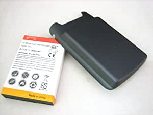 BlackBerry Torch 9850 9860 Extended Capacity 3600mAh Li-Ion Battery + Black Battery Door Cover + J-M1 Battery Connector ~ Mobile Phone Repair Parts Replacement