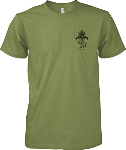 british-army-royal-electrical-mechanical-engineers-bw-badge-official-mod-t-shirt-mens-military-green