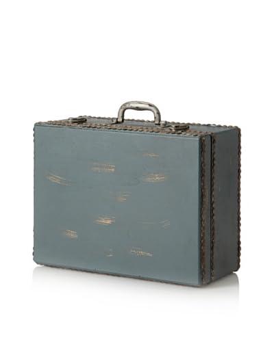 Wooden Suitcase, Blue