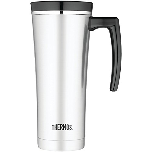 Thermos 16 Ounce Vacuum Insulated Travel Mug, Black (Thermos Coffee Mugs compare prices)