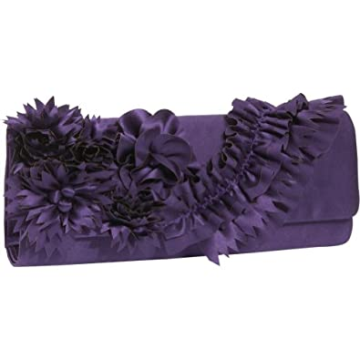 Inge Christopher Eve Silk Flap Clutch (Amethyst)