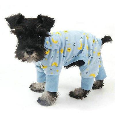 Pet Dog Clothes Jumpsuit Soft Cozy Puppy Dog Shirt Costumes Cat Pajamas Apparel (Large, Blue) (Tootsie Roll Owl Costume)