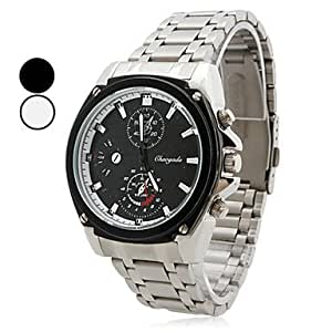 Amazon.com: Men's Alloy Analog Quartz Wrist Watch (Silver ...