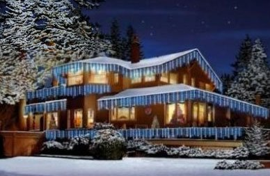 Snowing Icicles Supabrights 180 LEDs Blue & White Lights