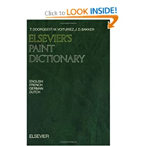 Amazon.com: Elsevier's Paint Dictionary: In English, German ...