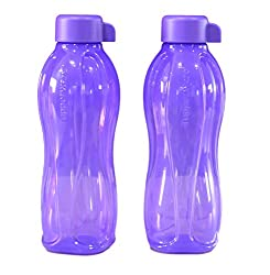 Tupperware Aquasafe Bottle (500ml) Purple, Set Of 2