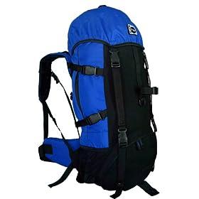 NEW CUSCUS 60+10L Internal Frame Backpack Hiking Camp Travel Bag -Navy-Free Rain Cover