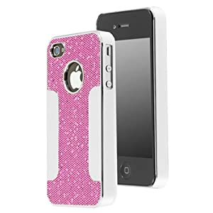 Chromo Inc® Chrome Aluminum Glittery Hard Shell Case for Apple iPhone 4 & 4S (AT&T, Verizon, Sprint) - Light Pink Sparkle Bling