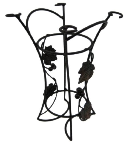 Grape Leaf Motif Single Bottle Wine Holder Rack