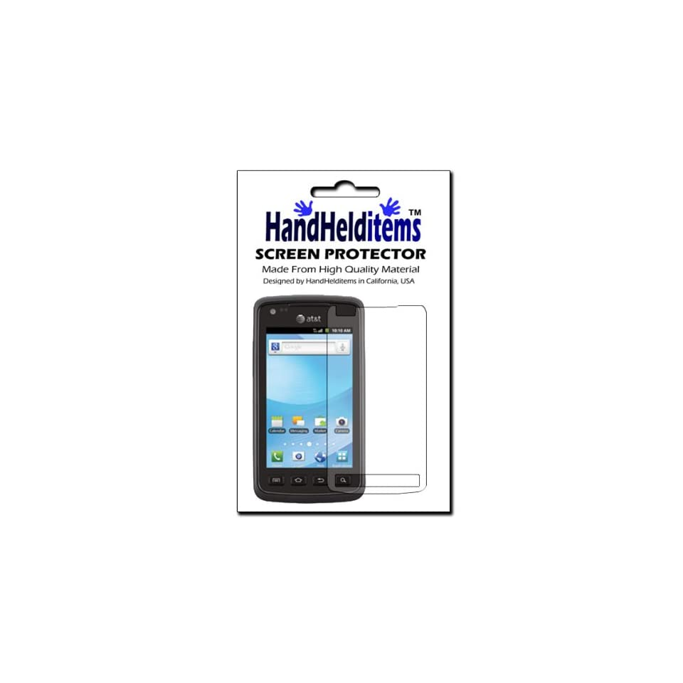 HHI Samsung SGH i847 Rugby Smart (Invisible) Crystal Clear HD Screen Protector (Package include a HandHelditems Sketch Stylus Pen)