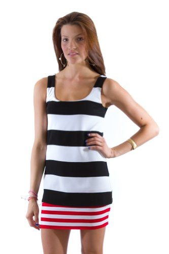 Bailey 44 Body Work Dress in Black/Red (Small)
