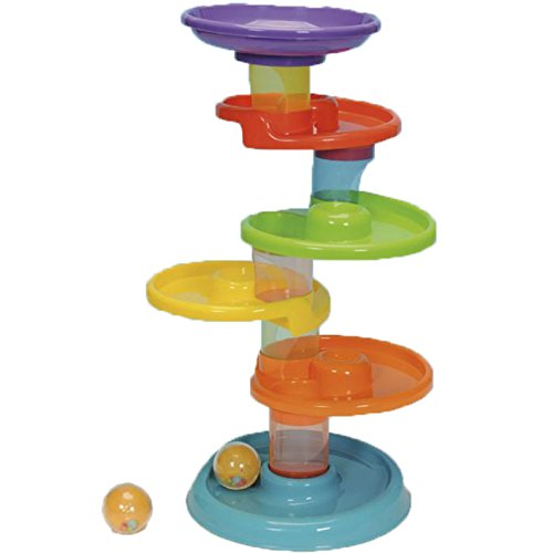Colorful See Through Twist and Roll Spiral Tower (Super Spiral Play Tower compare prices)