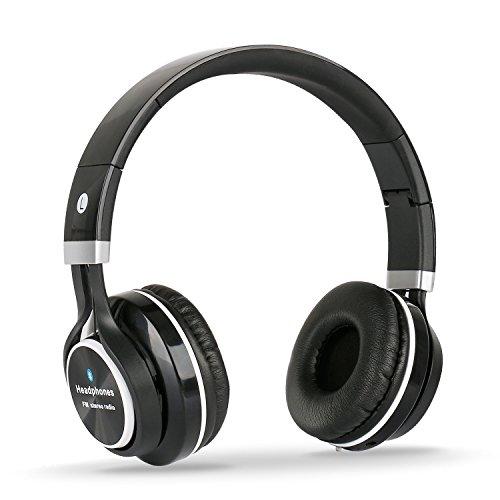 Dylan Bluetoothヘッドフォン 撮影機能付き ハンズフリー通話 ステレオ 折りたたみ式 (ブラック)