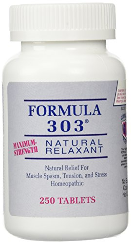 Formula 303 Maximum Strength Natural Relaxant | 250 Tablets