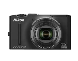 Nikon Coolpix S8100 12.1 MP CMOS Digital Camera with 10x Optical Zoom-Nikkor ED Lens and 3.0-Inch LCD (Black)