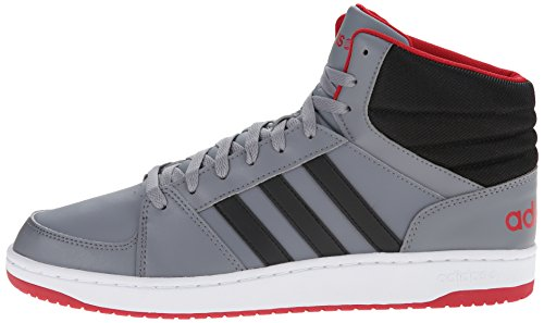 adidas NEO Mens Hoops VS Mid Fashion Sneaker GreyBlackPower Red 105 M  US Apparel Accessories Shoes Athletic Shoes Sneakers Sneakers Sneakers