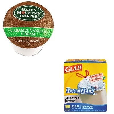 Kitcox70427Gmt6700Ct - Value Kit - Green Mountain Coffee Roasters Caramel Vanilla Cream Coffee K-Cups (Gmt6700Ct) And Glad Forceflex Tall-Kitchen Drawstring Bags (Cox70427)
