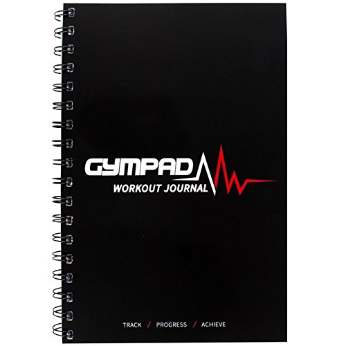 GymPad - Workout Journal (Black) - Premium Quality Paper (140GSM) - Templates And Resources Designed By Fitness Professionals - Unique, Structured Way To Track Progress And Maximise Your Results!