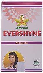 Amrutham Ayurveda Evershyne Capsules, Cream (Pack of 60 Capsules)