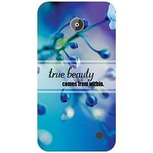 Printland True Beauty Back Cover For Nokia Lumia 630