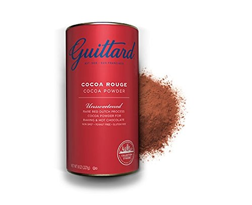 E Guittard Cocoa Powder, Unsweetened Rouge Red Dutch Process Cocoa, Two (2) 8oz Cans (Guittard Chocolate Company compare prices)
