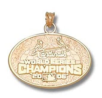 St. Louis Cardinals World Series 2006 Logo 3 4 Pendant - 10KT Gold Jewelry by Logo Art