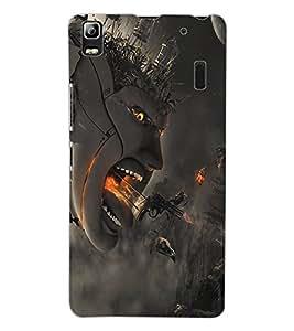 ColourCraft Creative Creature Design Back Case Cover for LENOVO A7000