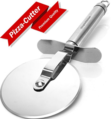 Premium-Quality Pizza-Cutter Pizza-Wheel Stainless-Steel, by Utopia Kitchen