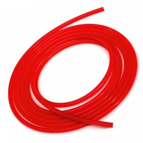 Upgr8 Universal Inner Diameter High Performance 5 Feet Length Silicone Vacuum Hose Line (6MM(1/4 Inch), Red)