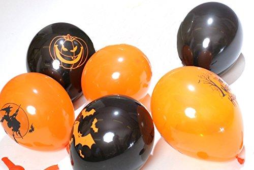 50 Halloween Luftballons bedruckt verschiedene Motive EU Ware- Keine China Ware