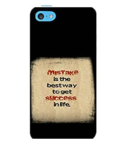 printtech Cool Quotes Success Back Case Cover for Apple iPhone 5C