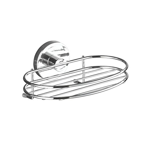 WENKO 20890100 Vacuum-Loc soap holder Milazzo - fixing without drilling, Steel, 6.7 x 3 x 4.7 inch, Chrome (Drilling Ships compare prices)
