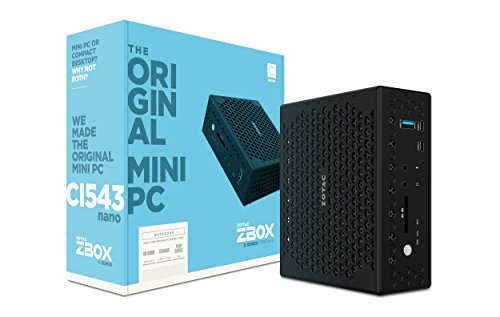 NEW ZOTAC ZBOX C Series CI543 Nano Passive Cooling Mini PC, Intel...