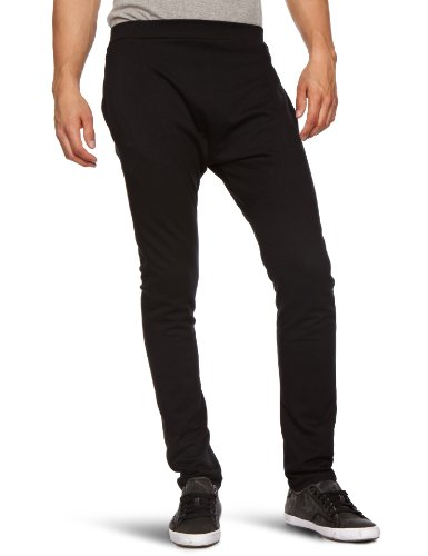 Hip and Bone Terry Drop Fitted Pants Drop Crotch Men's Trousers Black X-Large