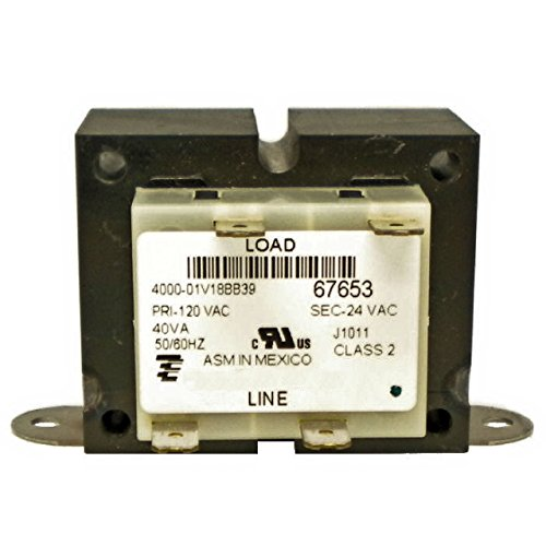 TRANSFORMER - 120 V PRIMARY - 24V SECONDARY - 40 VA ONETRIP PARTS® DIRECT REPLACEMENT FOR YORK COLEMAN EVCON LUXAIRE S1-2940A3541