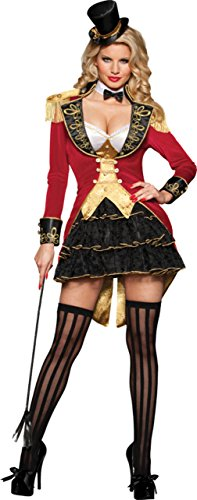 Incharacter Womens Sexy Big Top Tease Seductive Ringmaster Adults Fancy Costume